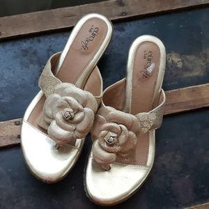 Metallic Gold Sandals by Sofft